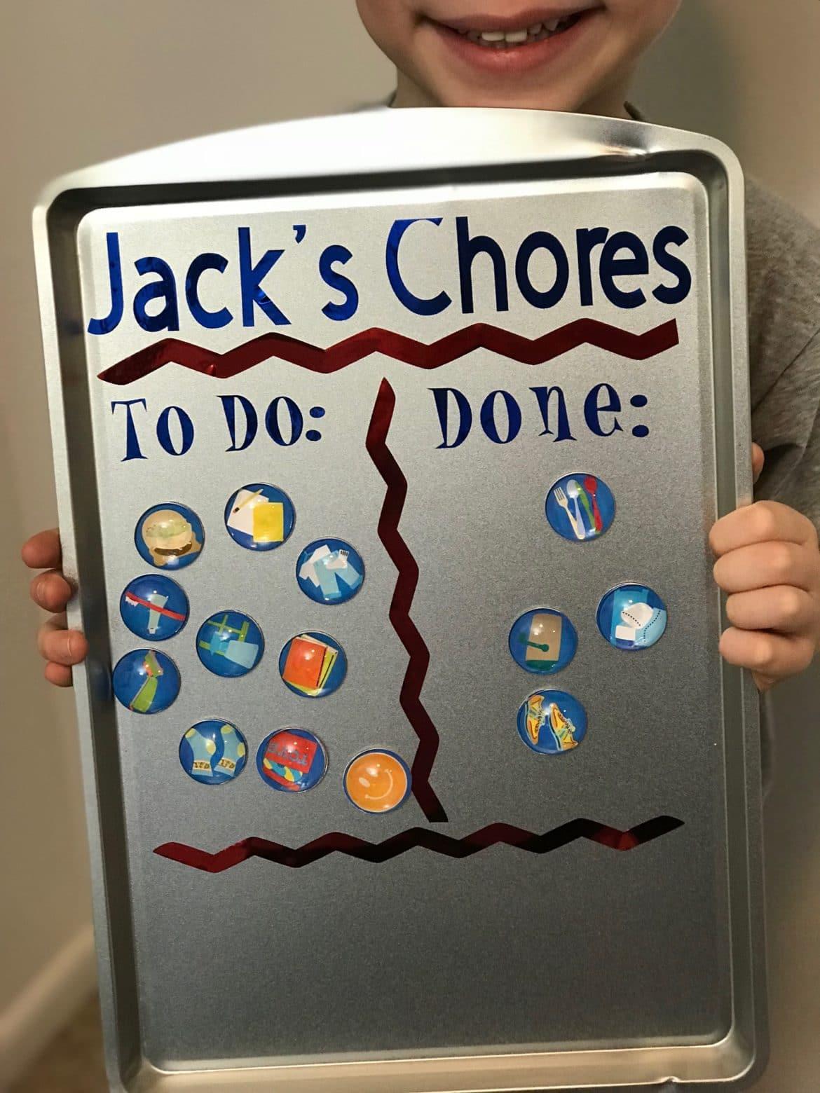 DIY Magnetic Chore Chart