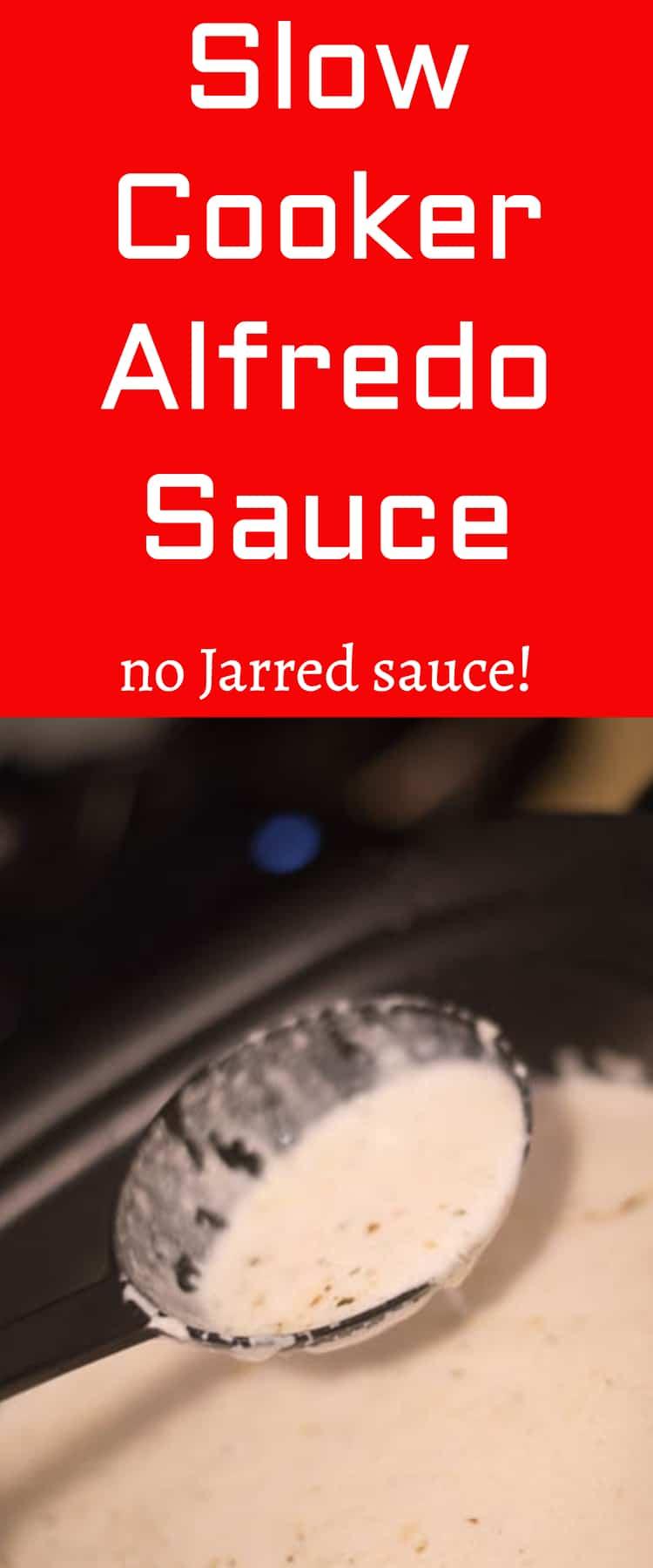 alfredo sauce / homemade alfredo / chicken alfredo / crock pot alfredo / slow cooker alfredo #slowcooker #alfredosauce #crockpot