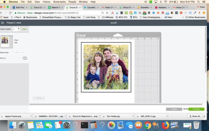Make Your Own Puzzle with Cricut - 6 Free Templates!