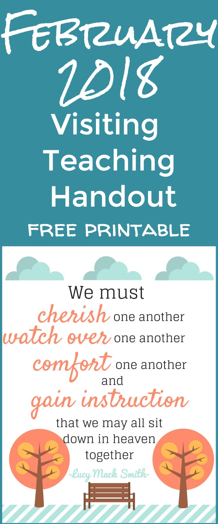 2018 February Visiting Teaching Message Handout