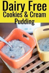 Cookies and Cream Dairy Free Pudding (Vegan Friendly)