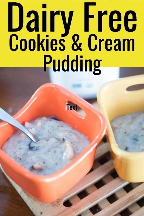 Cookies and Cream Dairy Free Pudding (Vegan Friendly) via @clarkscondensed