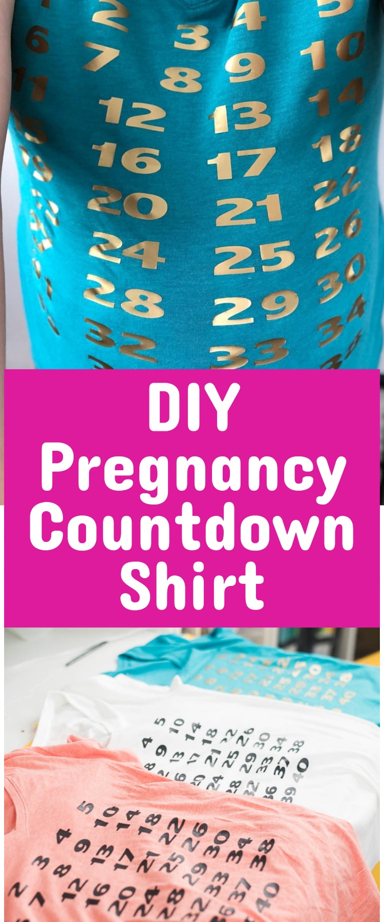 DIY Pregnancy Countdown