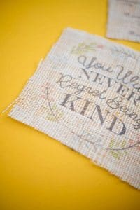 How to Print on Burlap – The Easiest Way!