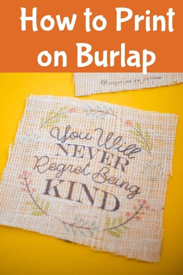 How to print on burlap / cricut / cricut crafts / crafts / burlap craft via @clarkscondensed