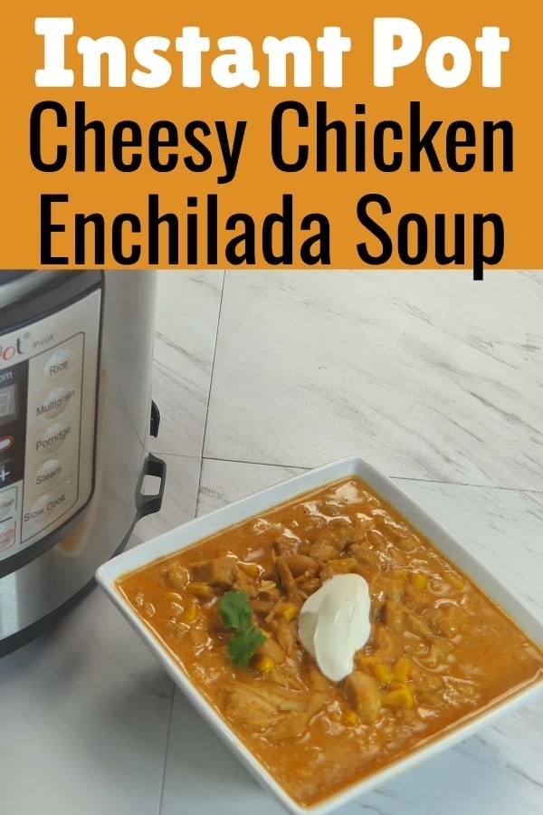 Instant Pot Chicken Enchilada Soup / Instant Pot Soup / INstant Pot Recipes / PRessure Cooker ENchilada Soup / #InstantPot #PressureCooker #soup via @clarkscondensed