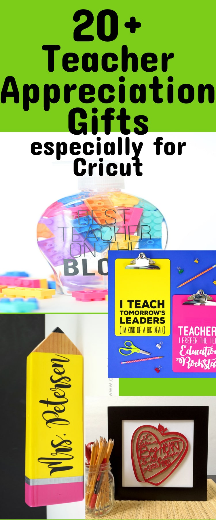 Cricut Teacher Appreciation Gifts