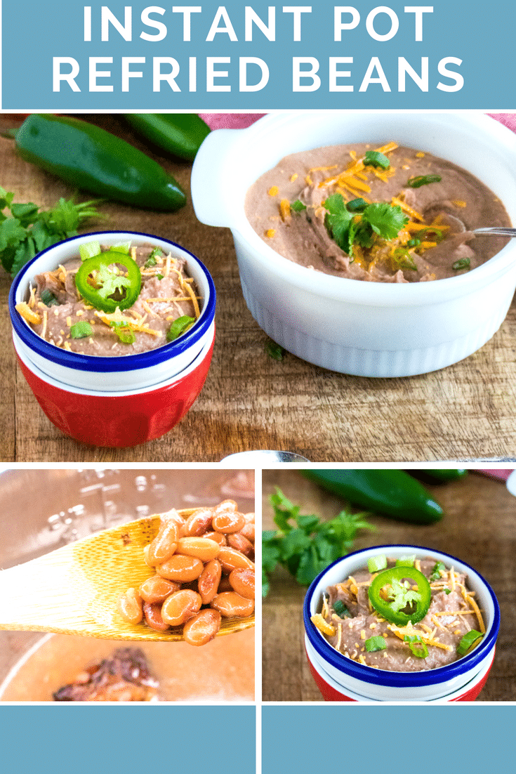 Instant Pot Refried Beans / Pressure Cooker Refried Beans