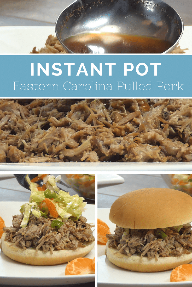 Pressure Cooker Pork / Instant Pot Pork / Instant Pot Pulled Pork / Eastern Carolina Pulled Pork / Vinegar Based Sauce / #instantpot #pulledpork #Pressurecooker via @clarkscondensed