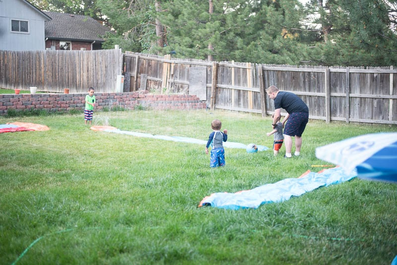Slip and slide kickball