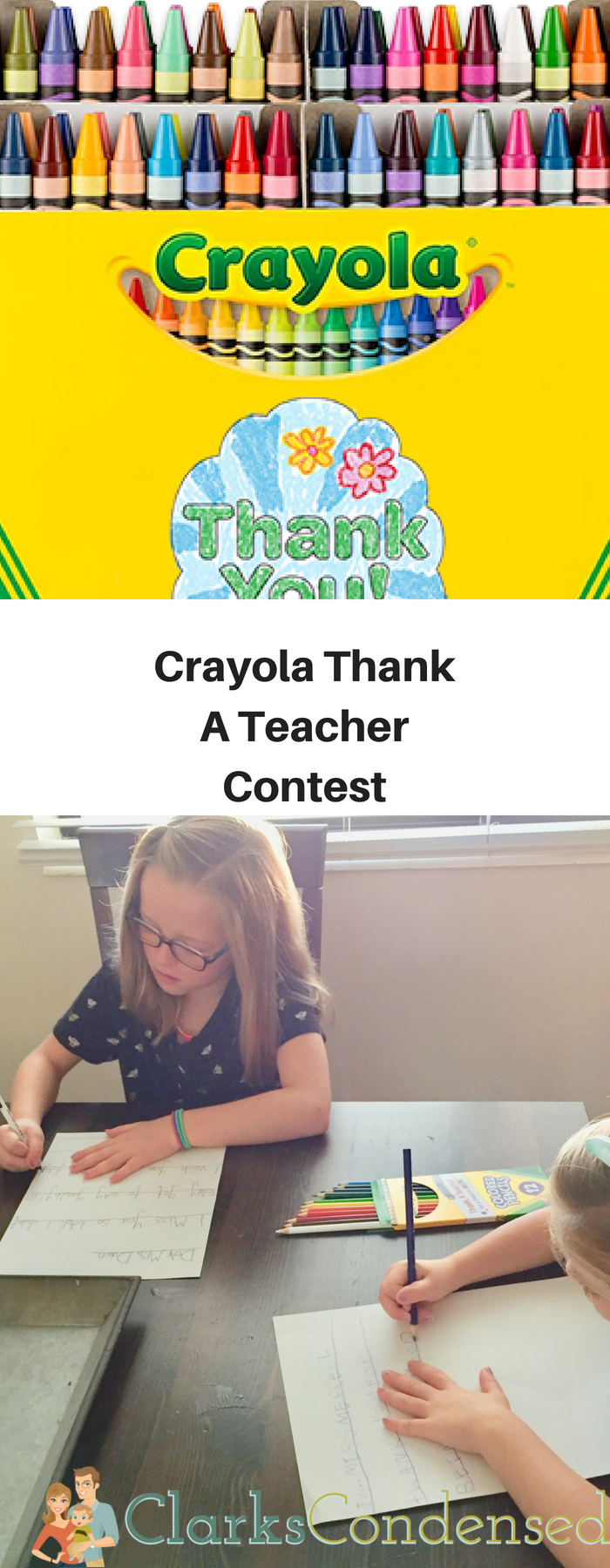 Be sure to enter the Crayola Thank A Teacher contest! #CrayolaThanks, #IC, and #CrayolaPartner via @clarkscondensed