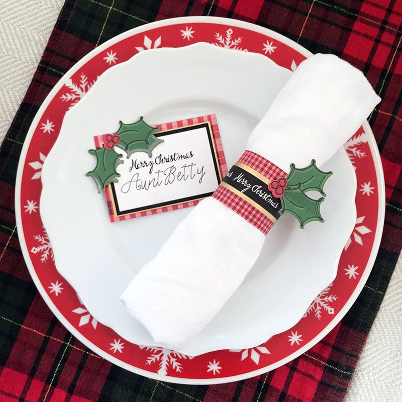 christmas placemat settings