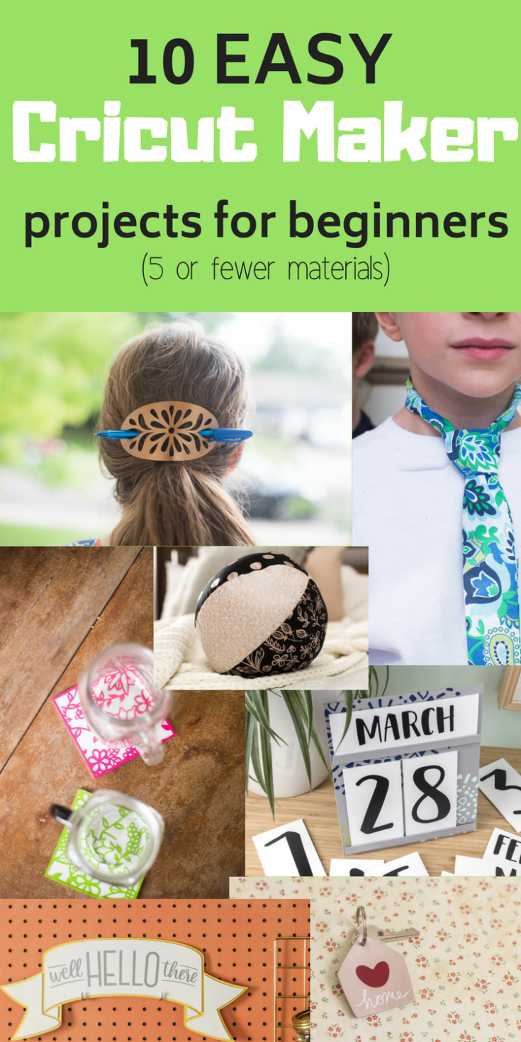 10 Easy Cricut Maker Projects (Using Less than Five Materials!)
