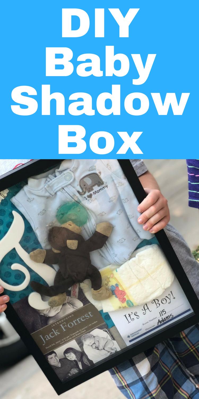 Easy DIY Baby Shadow Box via @clarkscondensed