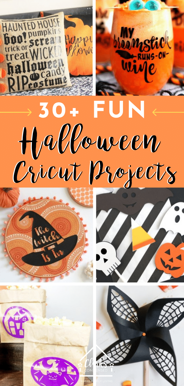 Cricut Halloween Projects / Cricut Ideas / Cricut Halloween Ideas / DIY Halloween Ideas #halloween #cricut #cricutmade #cricuthalloween via @clarkscondensed