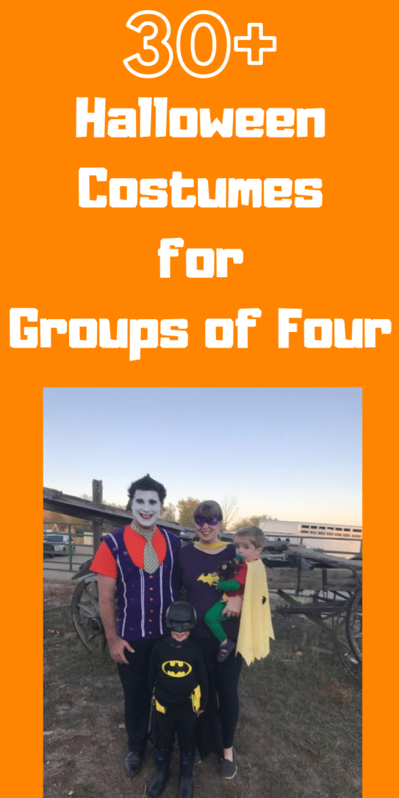 30+ Family of Four Halloween Costume Ideas