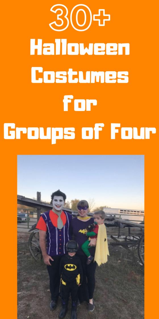 30+ Family of Four Halloween Costume Ideas