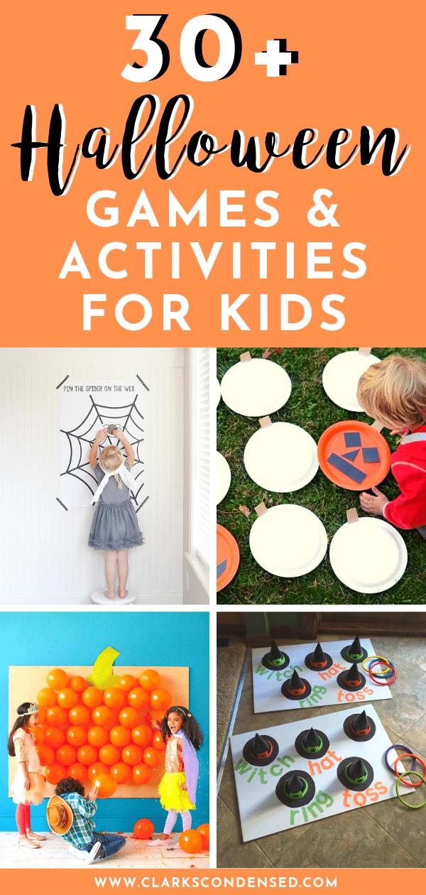 Halloween Games / Halloween Activities / Halloween Games for Kids / Activities for Halloween / Classroom Halloween Parties via @clarkscondensed
