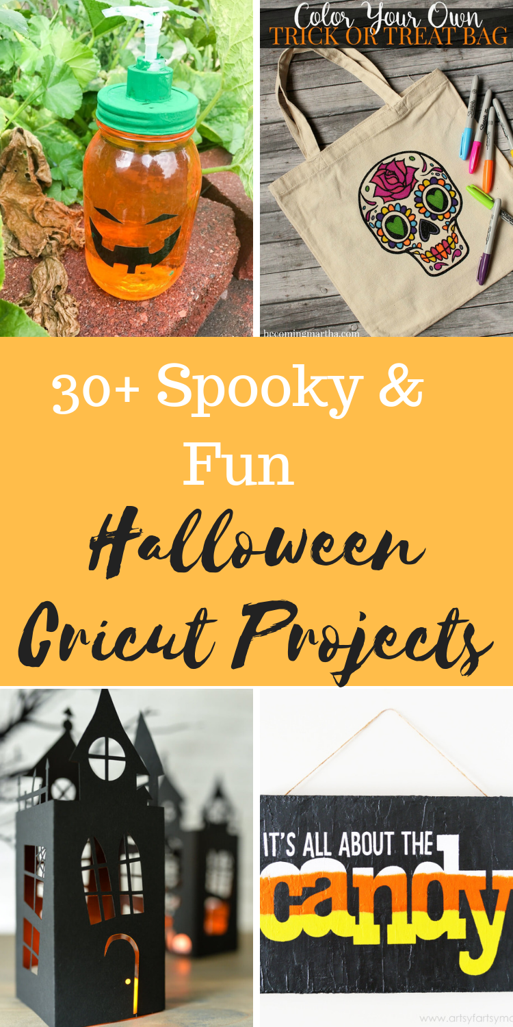 Cricut Halloween Projects / Cricut Ideas / Cricut Halloween Ideas / DIY Halloween Ideas