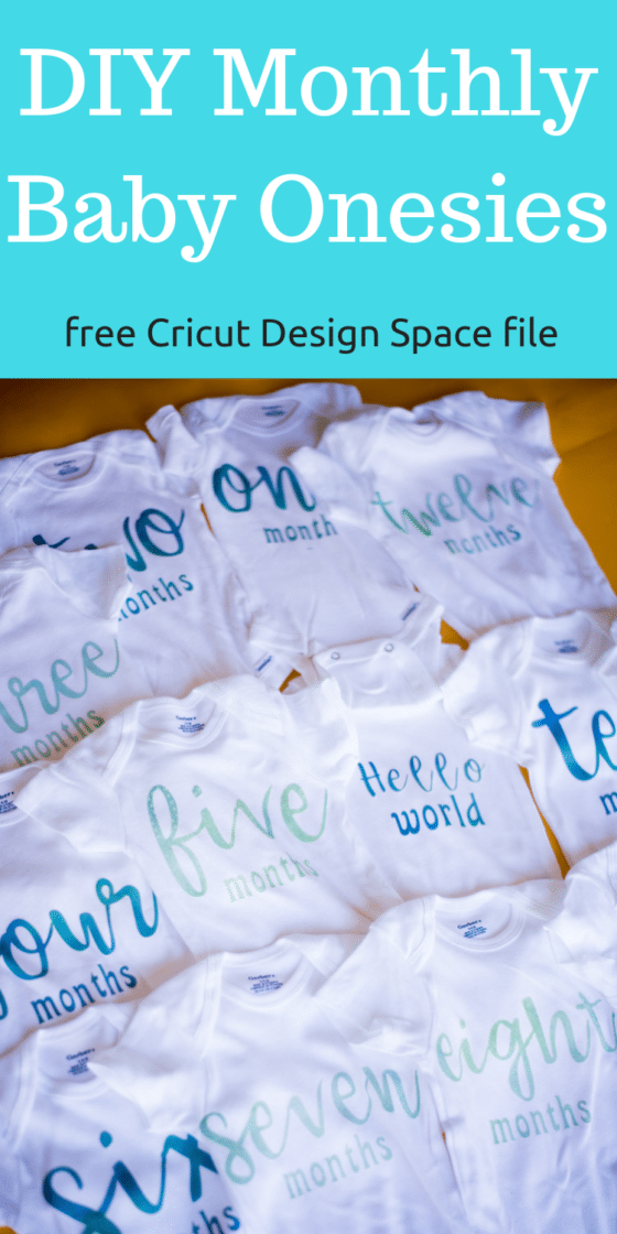 DIY Month by Month Baby Onesies – Cricut Baby Onesies