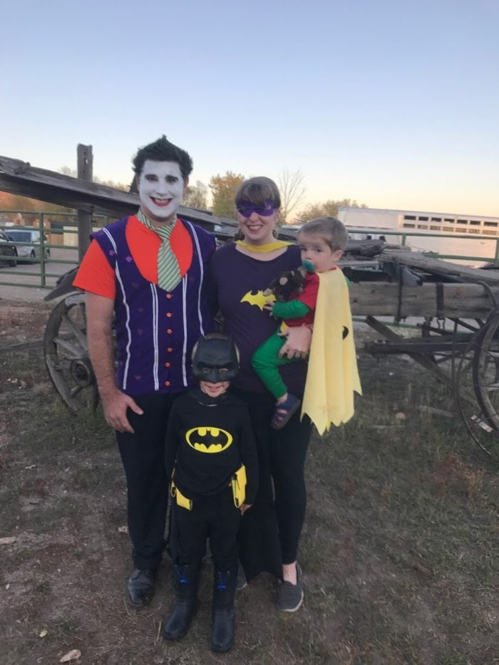 family batman costumes