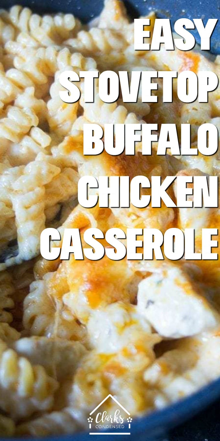 This is a great chicken and buffalo sauce recipe - you can make a buffalo chicken pasta stove top in no time. This buffalo chicken pasta has no cream cheese. via @clarkscondensed