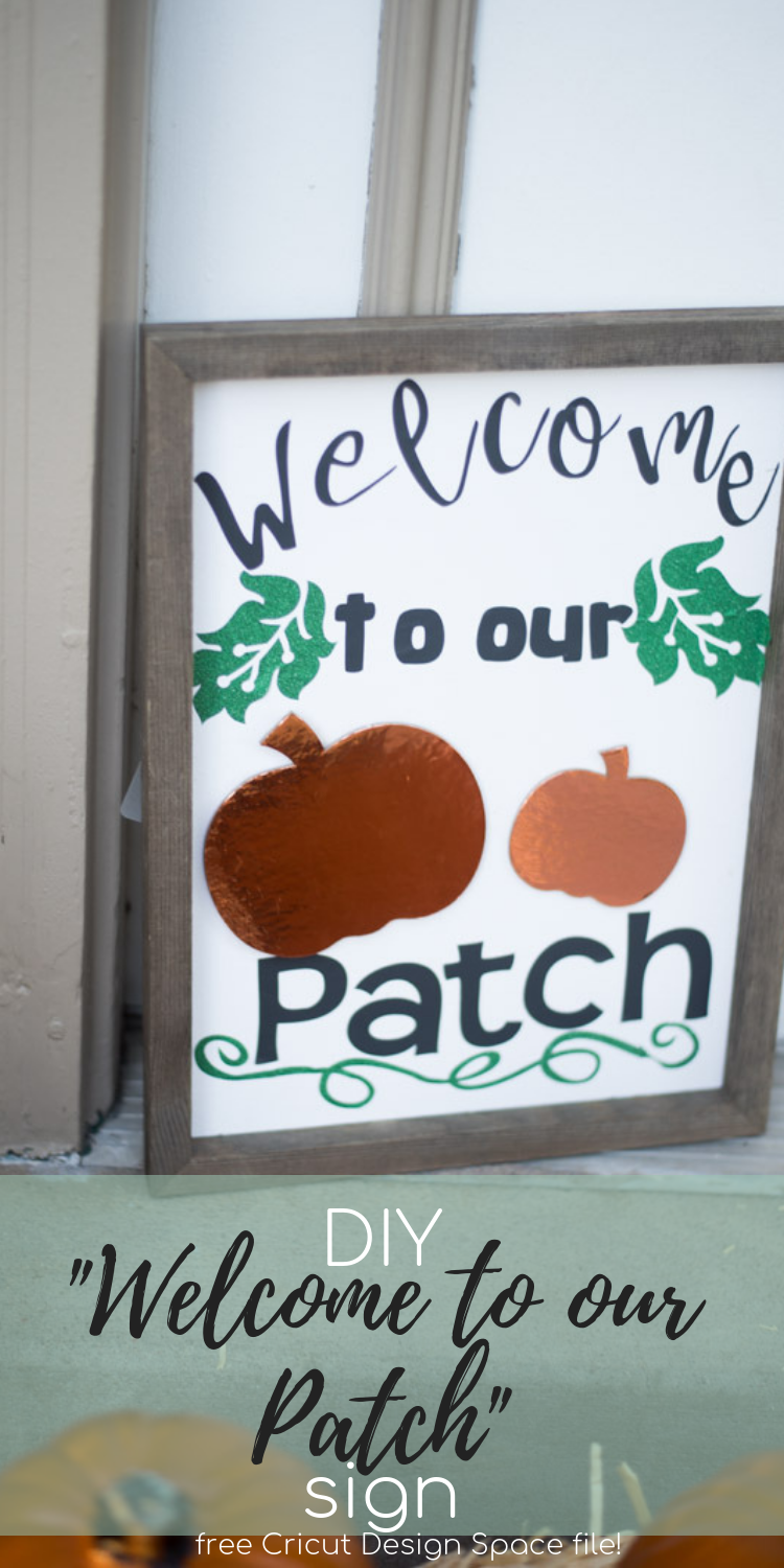 Halloween / Pumpkin / Welcome to our Patch / Cricut Ideas via @clarkscondensed