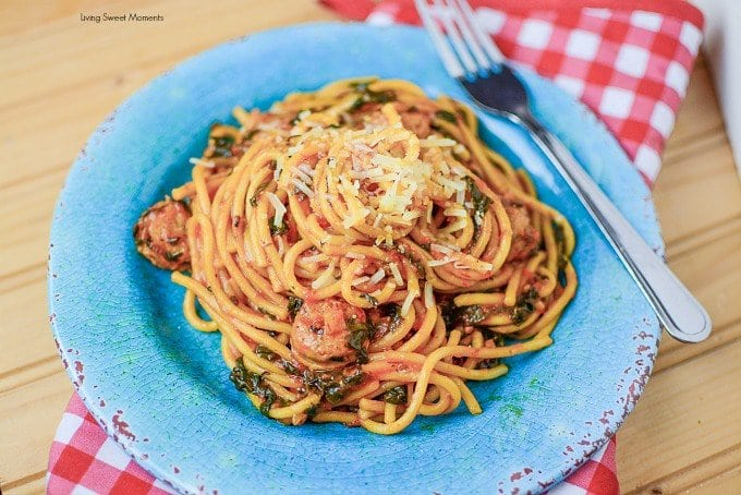 Sausage and Spinach Pasta