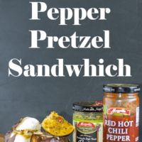 Pesto Pepper Pretzel Sandwich