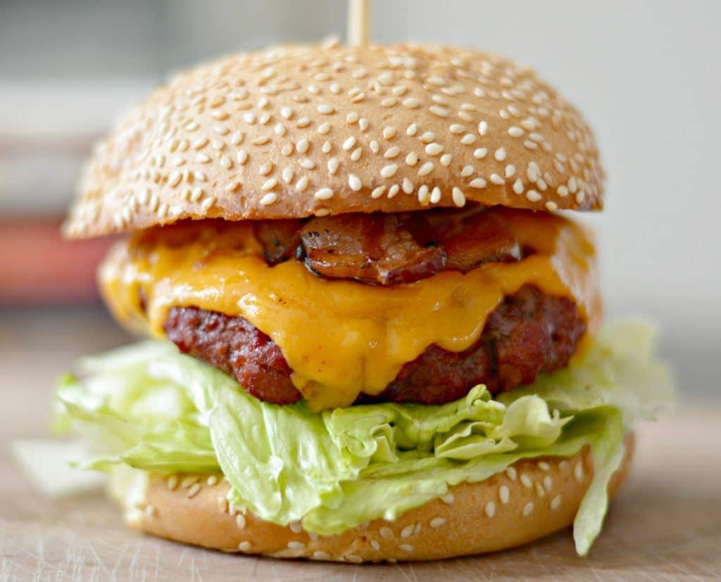 Traeger Cheeseburger