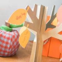 DIY Thanksgiving Thankful Tree Tutorial + Template