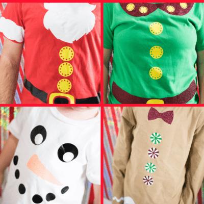 DIY Christmas Shirts with Cricut + EasyPress 2 Giveaway