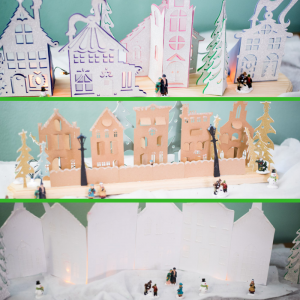Three Fun Cricut Christmas Village Projects – And Tips for Success!
