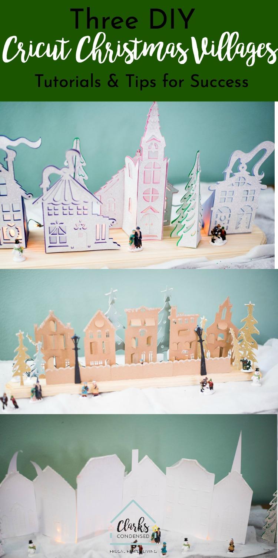 Cricut Christmas Village / Cricut Crafts / Cricut Christmas Crafts / DIY Christmas / Christmas Craft #christmas #cricutmade #cricutcraft #cricutdiy via @clarkscondensed