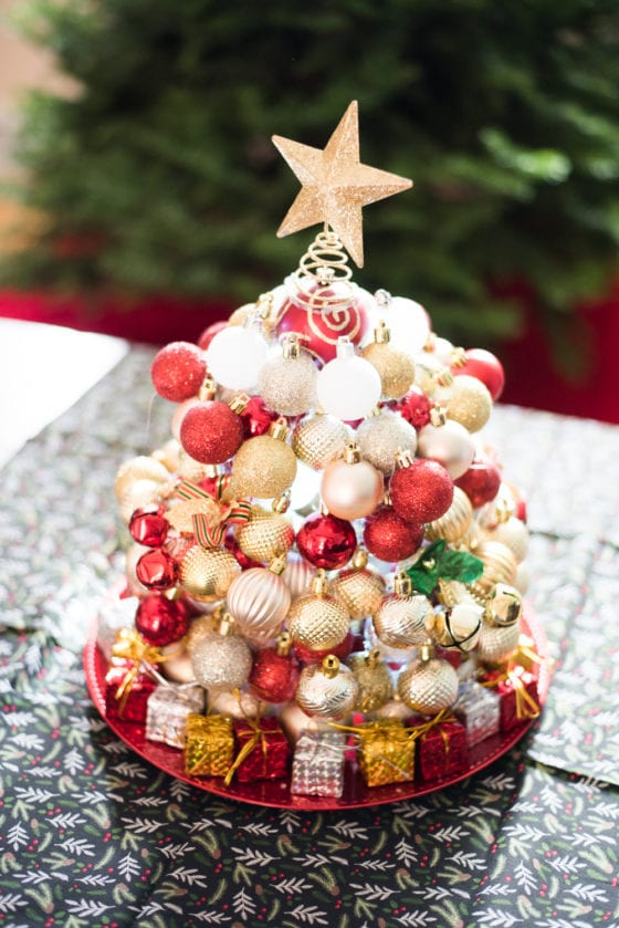 DIY Ornament Christmas Tree + More Dollar Tree Christmas Projects