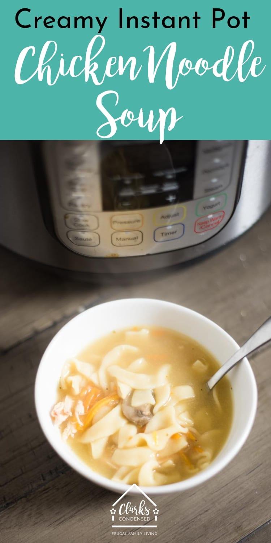 Instant Pot Chicken Noodle Soup / Chicken Noodle Soup / Instant Pot Soup Recipe / Pressure Cooker Chicken Noodle Soup #instantpot #pressurecooker via @clarkscondensed