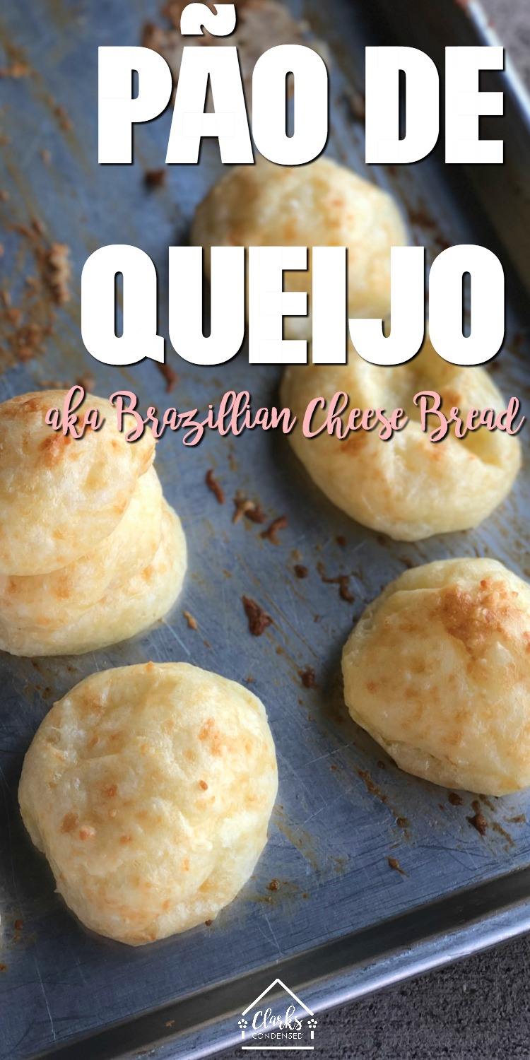 Pão de Queijo Recipe / Pão de Queijo Receita / Brazillian Cheese Bread / Brazillian Recipes via @clarkscondensed