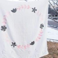 DIY Baby Milestone Blanket Tutorial