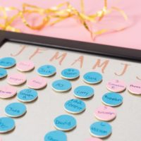 DIY Magnetic Family Birthday Calendar - Easy to Update!