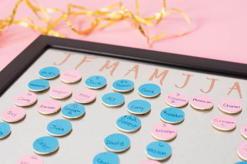 DIY Magnetic Birthday Calendar