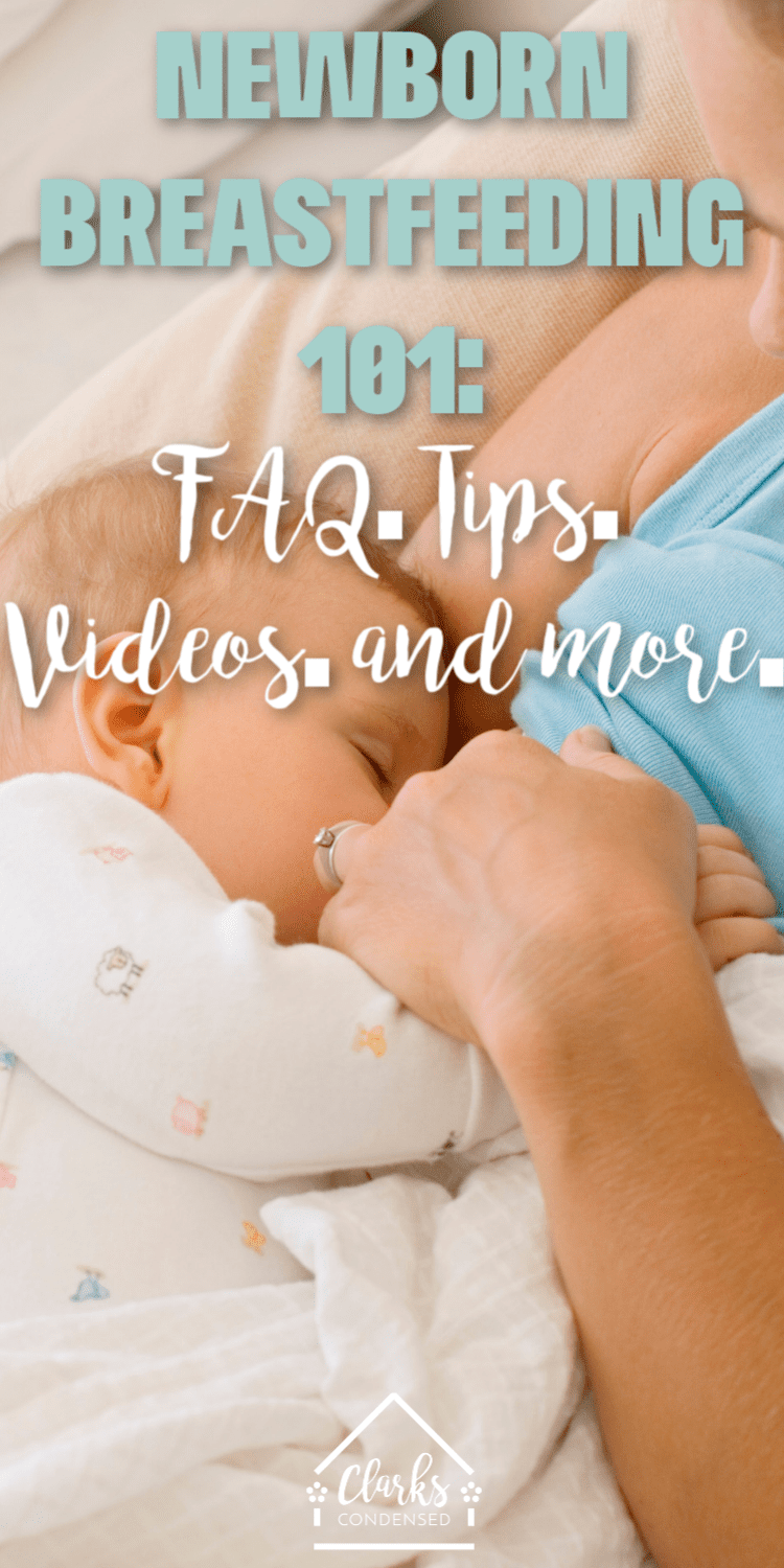 "Do you wonder how often to feed newborn at night? Or asking ""Do I have to offer both breasts each feeding?"" If you are new to breastfeeding a newborn, or breastfeeding my newborn hurts, then this post will answer everything you need to know.  via @clarkscondensed"