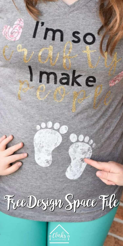 PRegnancy shirt / maternity shirt / funny maternity shirt / funny pregnancy shirt / DIY Pregnancy Shirt / Pregnancy Sayings / Cricut Pregnancy via @clarkscondensed