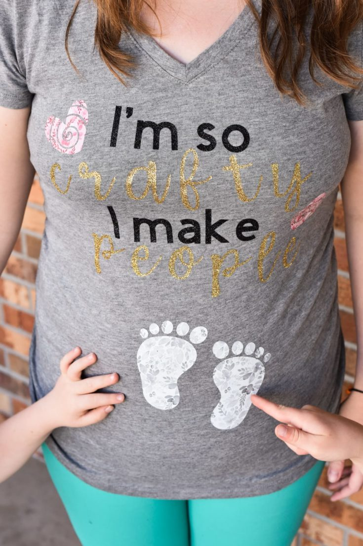 DIY Funny Pregnancy Shirt - Free Cricut File