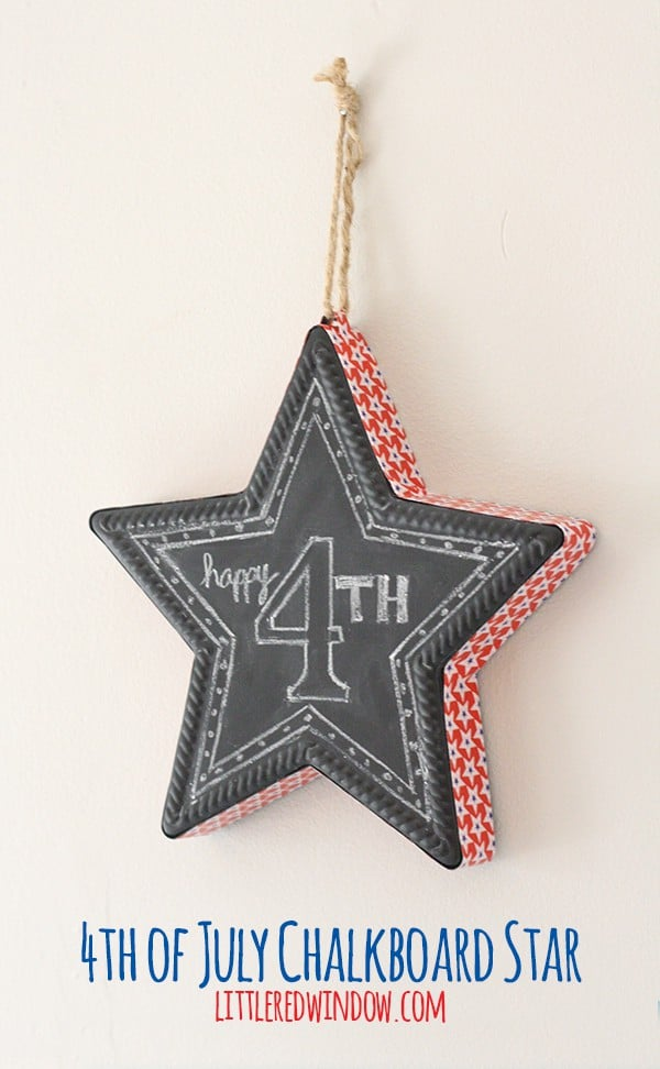 DIY 4th of July Chalkboard Star