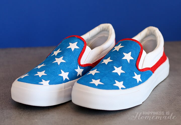 DIY Star Spangled 4th of July Shoes