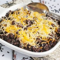 Easy One Pot Black Rice and Chorizo Casserole