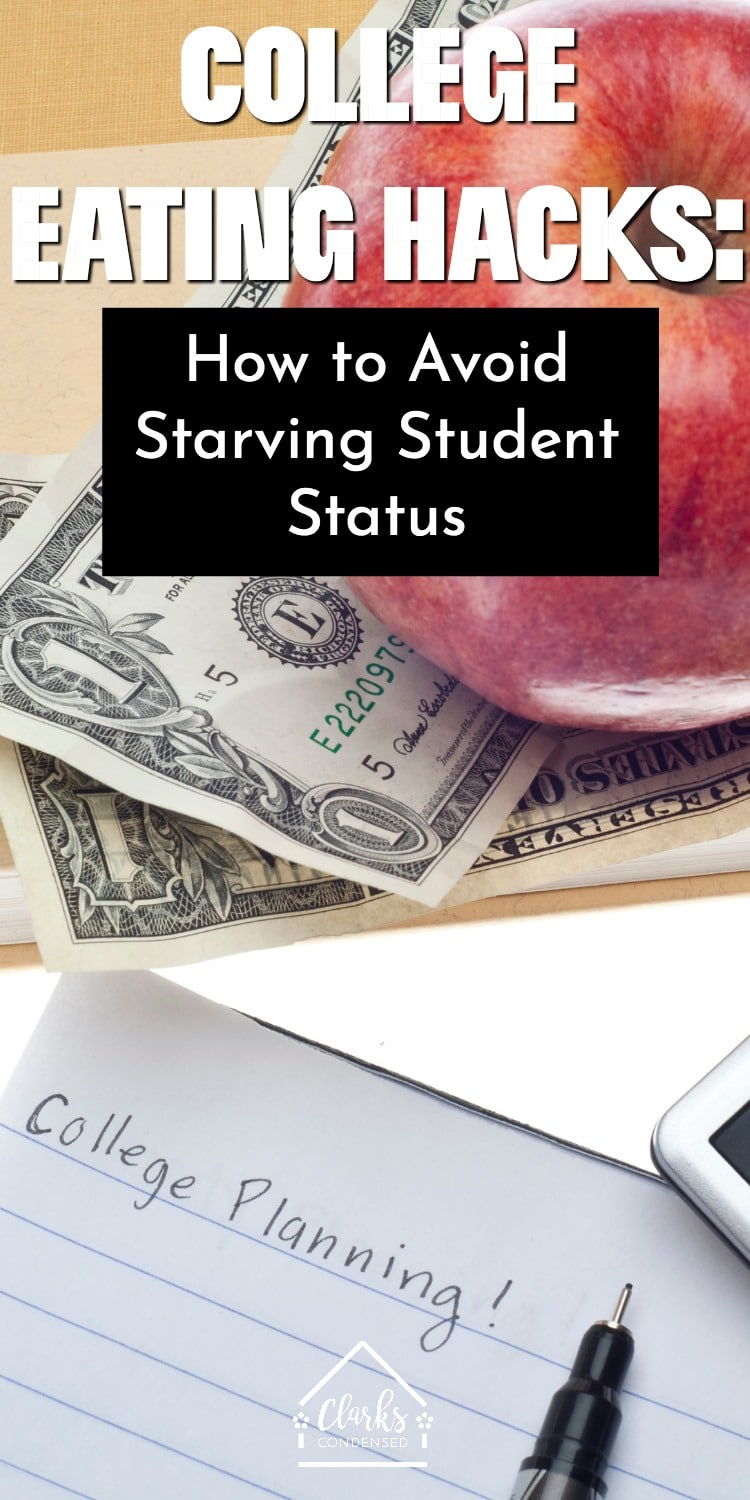 College Eating Hacks / College Food / Healthy Eating in College / Starving Student #ad via @clarkscondensed