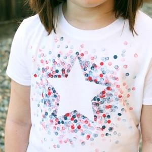 DIY Eraser-Stamped 4th of July Shirt