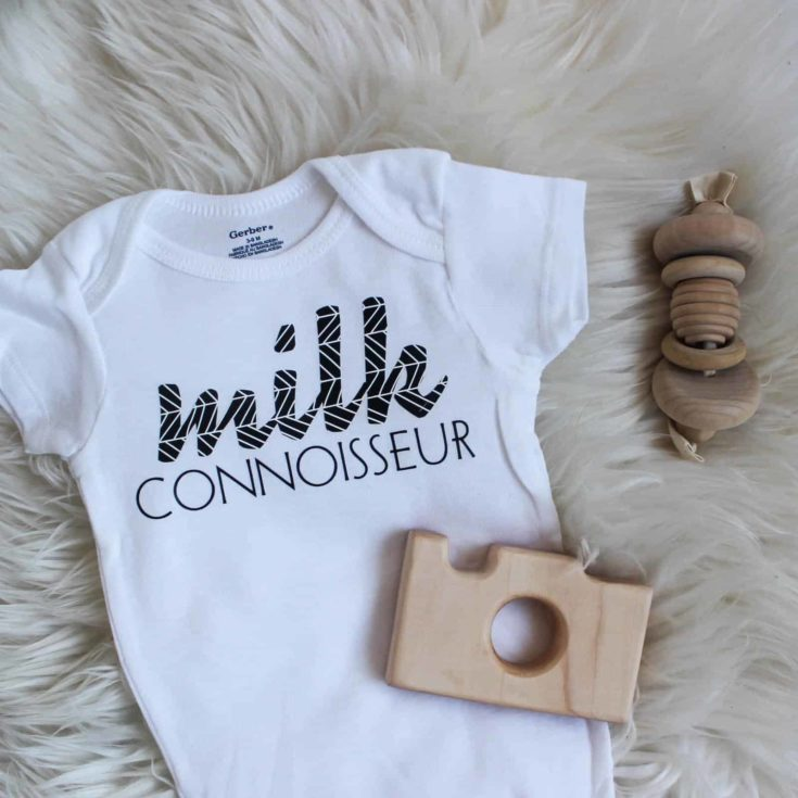 DIY Baby Onesies with Cricuts Patterned Vinyl | Love Create Celebrate