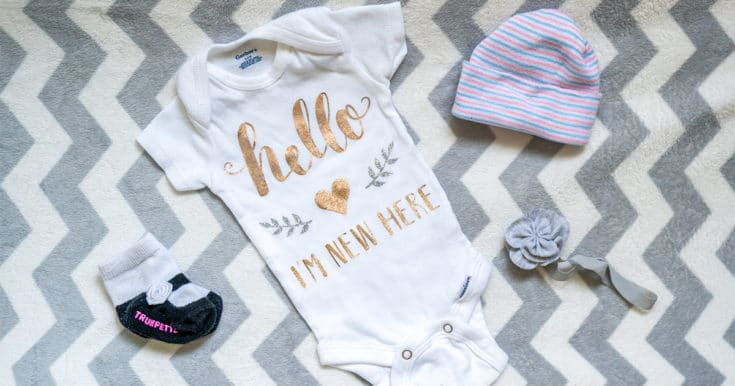 Easy Homemade Baby Onesie with the Cricut EasyPress 2